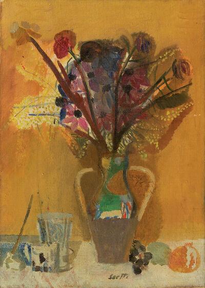 Bruno Saetti, 'Natura morta con fiori', 1955