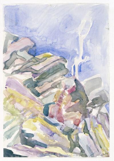 Maria Lassnig, 'Frau im Geroll', 1984