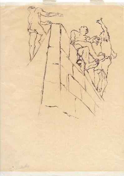 Fausto Pirandello, 'Figure su un Muro', 1937-1938