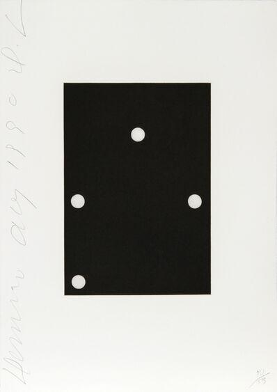 Donald Sultan, 'Dominoes Portfolio - 8', 1990