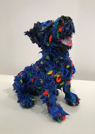 Ismael Lagares, 'Blue Dog II', 2019