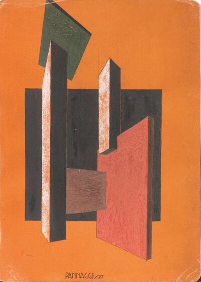 Ivo Pannaggi, 'Abstract perspective composition', made in 1927