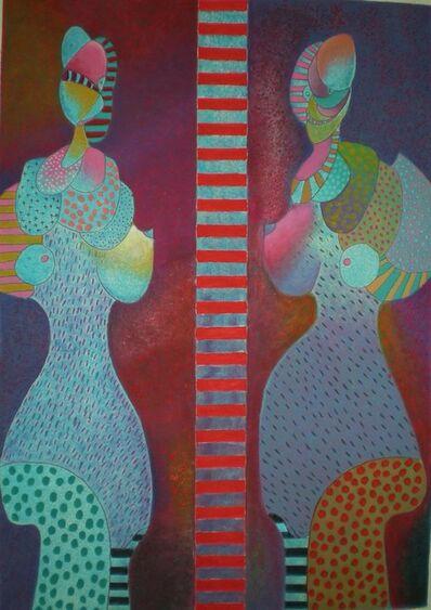 Vladimir Cora, 'Dos Figuras', ca. 1980