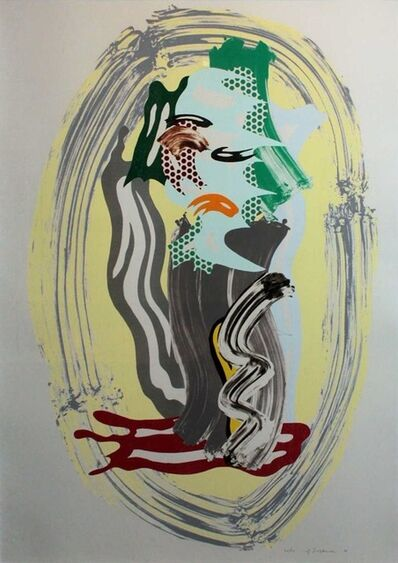 Roy Lichtenstein, 'Green Face, from Brushstroke Figures', 1989
