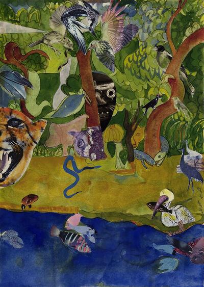Romare Bearden, 'Indigo Snake', 1975