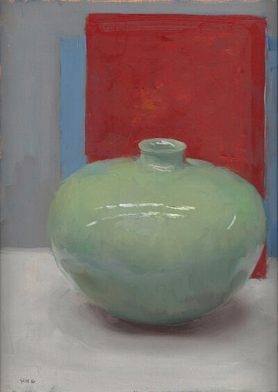 Kenny Harris, 'Green Vessel on Red', 2016