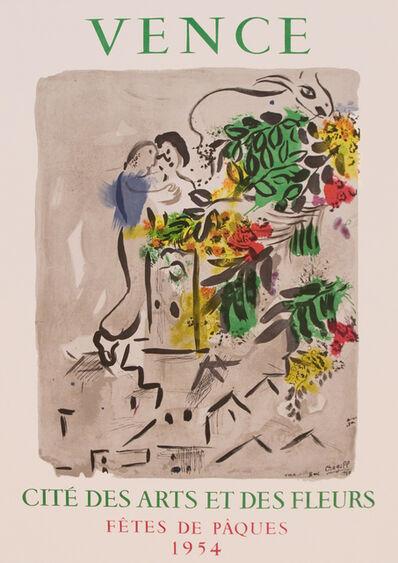 Marc Chagall, 'Vence - Cite Des Arts et Des Fleurs 1954 - Exhibition Poster', 1954
