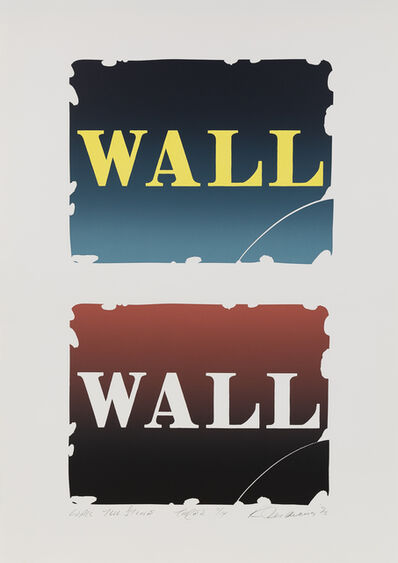 Robert Indiana, 'Wall: Two Stones - Three', 1990