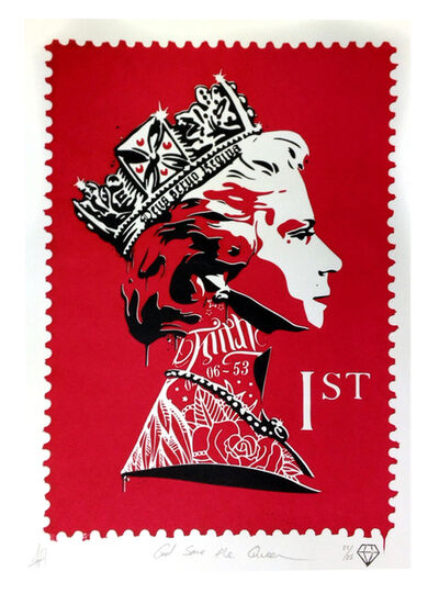 JJ Adams, 'God save the Queen (red)', 2014