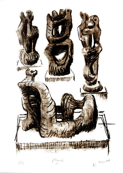 Henry Moore, 'Ideas for Wood Sculpture', 1974