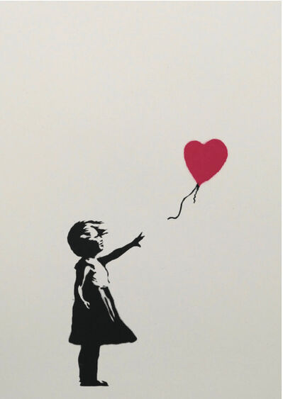 Banksy, 'Girl with balloon, numbered from the limited edition, with COA, 2004', 2004