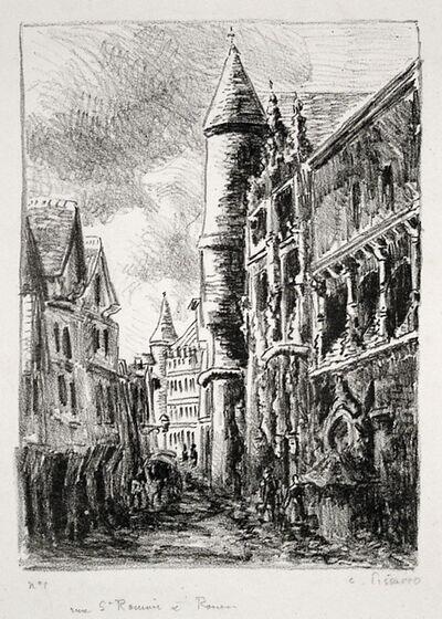 Camille Pissarro, 'Rue Saint-Romain, à Rouen, 2nd Plate', 1896