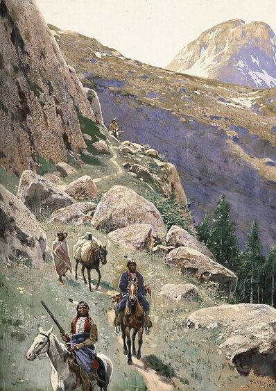 Henry F. Farny, 'The Pass', 1900