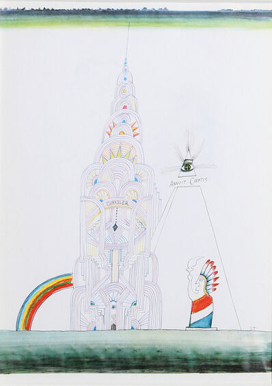 Saul Steinberg, 'Chrysler Building (Day), from Derrière le Miroir ', ca. 1965