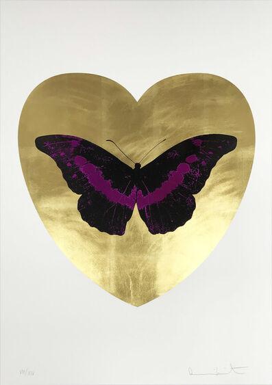 Damien Hirst, 'I Love You - Gold Leaf/Black/Fuchsia', 2015