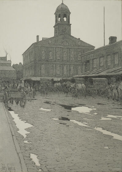 Jules Guérin, 'Faneuil Hall, Boston, Massachusetts', ca. 1907