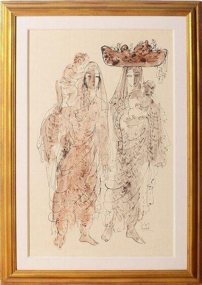 Reuven Rubin, 'Rare Israeli Reuven Rubin watercolor painting Bezalel school', 20th Century