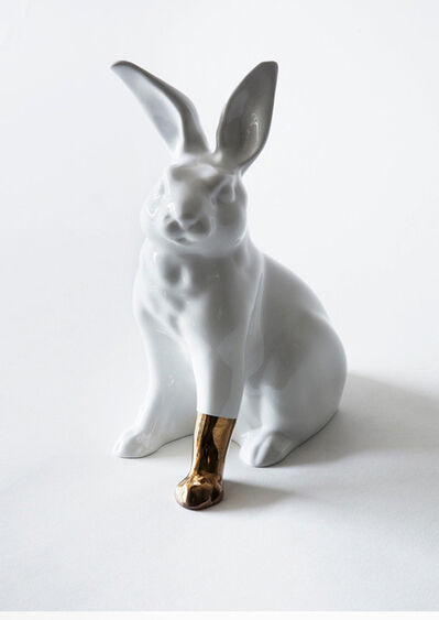 Scott Patt, 'Rabbit with foot (gold)', 2012