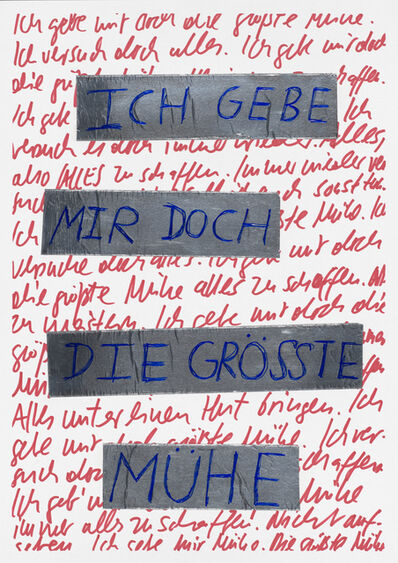 Georg Weißbach, 'Ich gebe mir doch die grösste Mühe', 2020