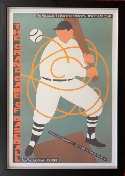 "Seymour Chwast, '""The Grand Game of Baseball and the Brooklyn Dodgers"" for the Museum of the Borough of Brooklyn, 1987', 1987"
