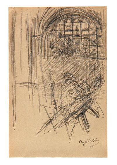 Giovanni Boldini, 'Interno di chiesa e figure', 1910
