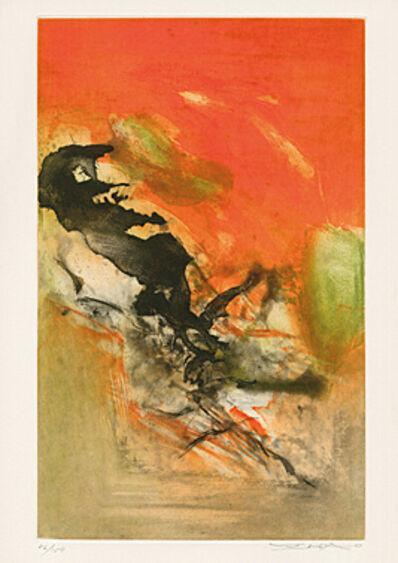 """Zao Wou-Ki 趙無極, 'ohne Titel (Blatt 2 aus """"Canto Pisan"""" (Ezra Pound))', 1972"""