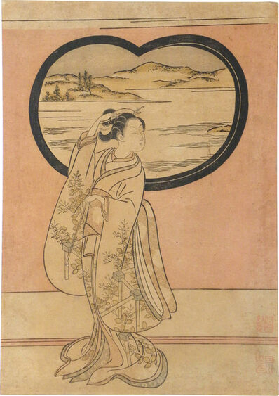 Suzuki Harunobu, 'Three Evenings: Illustration to a Poem by Jakuren Hoshi', ca. 1765