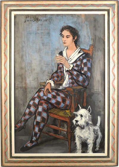 Ismael González de la Serna, 'Harlequin and his dog', 1955