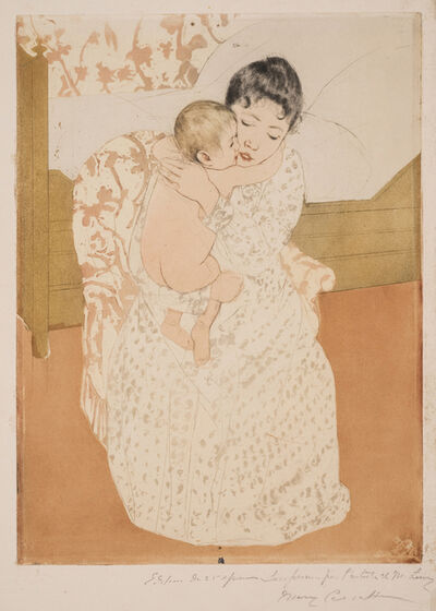 Mary Cassatt, 'Maternal Caress', 1890-1891