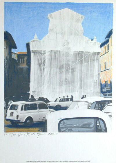 Javacheff Christo, 'Wrapped fountain Spoleto, 1968', 1968-2002
