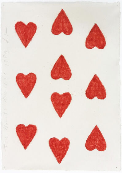 Donald Sultan, 'Ten Hearts March 23 1989', 1989