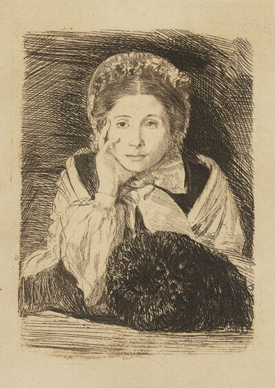Edgar Degas, 'Marguerite Degas, the Artist's Sister', circa 1860-62