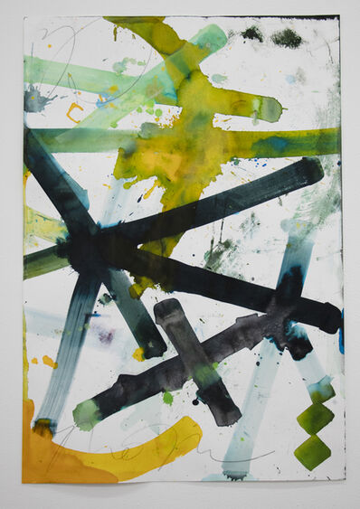 RETNA, 'Untitled (Yellow/Green 2)', 2021
