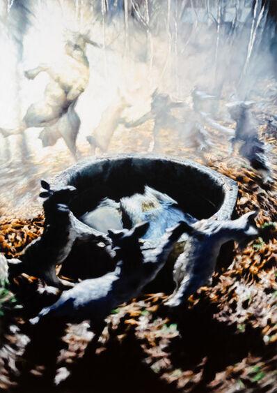 """Philipp Fröhlich, '""""Der Wolf und die sieben jungen Geisslein (241L)""""  (El lobo y las Siete Cabritas)', 2019"""