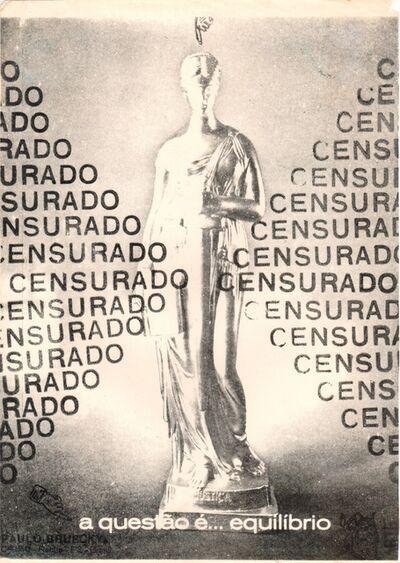 Paulo Bruscky, 'A questão é equilibrio', undated