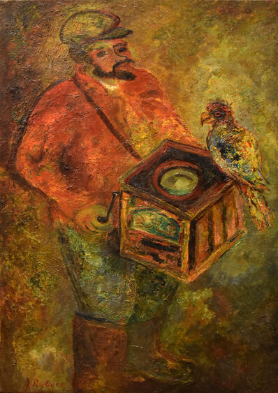 Issachar Ber Ryback, 'The Organ Grinder with a Parrot', 1932