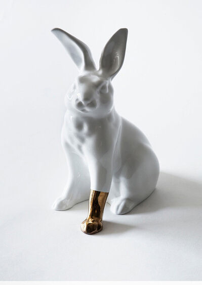 Scott Patt, 'Rabbit with foot (gold)', 2012
