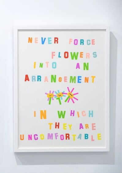 "Katie Kimmel, '""Don't Force a Flower""', 2019"