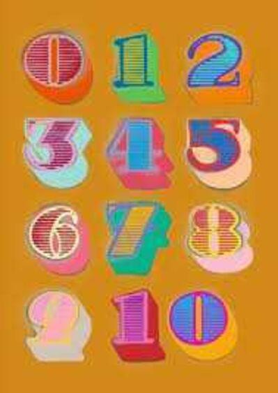 Ben Eine, 'Shutterfont Numbers (Gold)', 2010