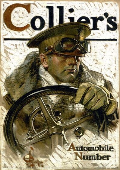 Joseph Christian Leyendecker, 'Automobile Number, Collier's Magazine Cover', 1918