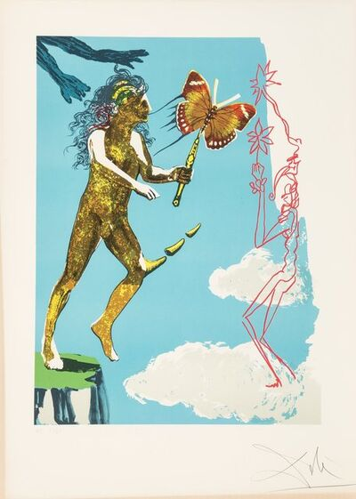 Salvador Dalí, 'Release of the psychic spirit, from Madame butterfly & the dream', 1978