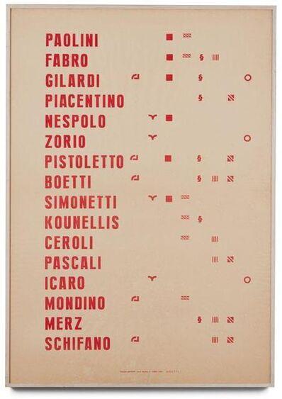 Alighiero Boetti, 'Manifesto', 1967
