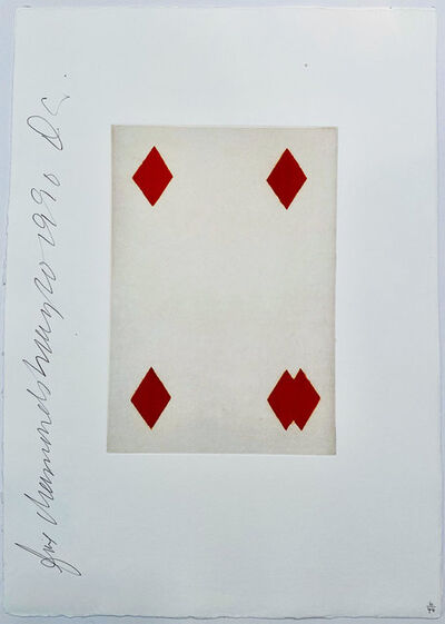 Donald Sultan, 'Playing Cards: Four of Diamonds', 1990