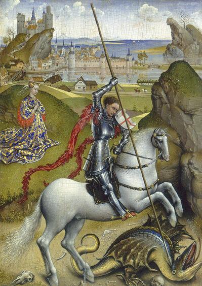 Rogier van der Weyden, 'Saint George and the Dragon', ca. 1432/1435