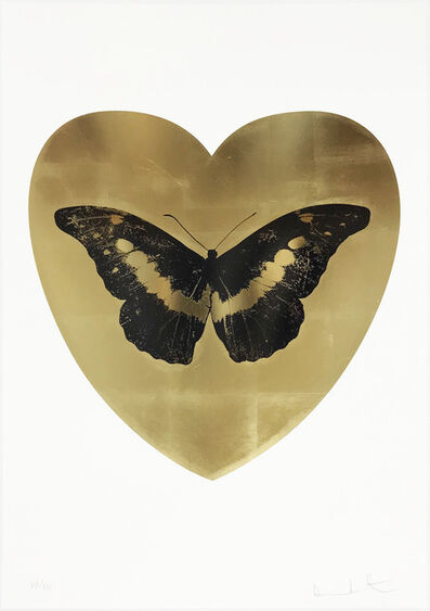 Damien Hirst, 'I Love You - Gold Leaf/Black/Cool Gold', 2018