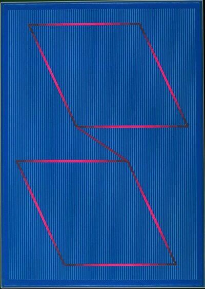 Julian Stanczak, 'Measure, Dark Blue', 1991