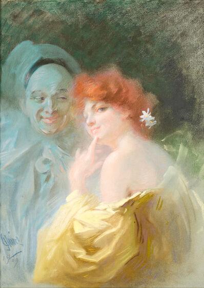 Jules Chéret, 'Colombine et Pierrot', 1909