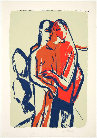 OSKAR HERMAN, 'Love Couple', ca. 1959