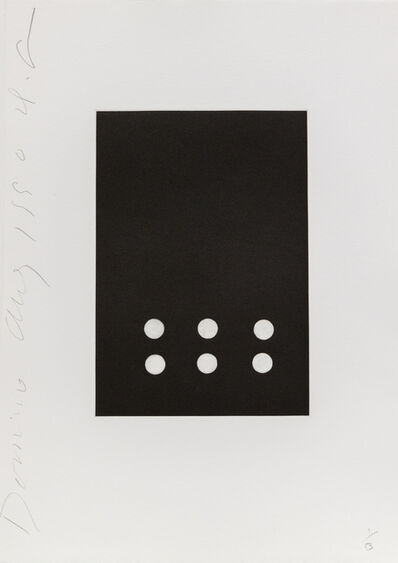 Donald Sultan, 'Dominoes (Six)', 1990