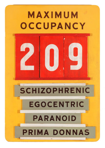 Skylar Fein, 'Maximum Occupancy (workplace safety sign)', 2019
